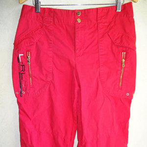 Womens Ralph Lauren Active Capris Pants Red 10